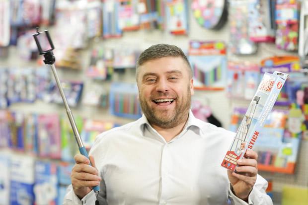 Nigel Goodhead with selfie stick