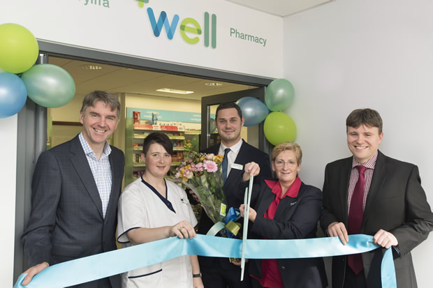 The opening of Well Pharmacy Hirwaun, Well's final rebrand[1]