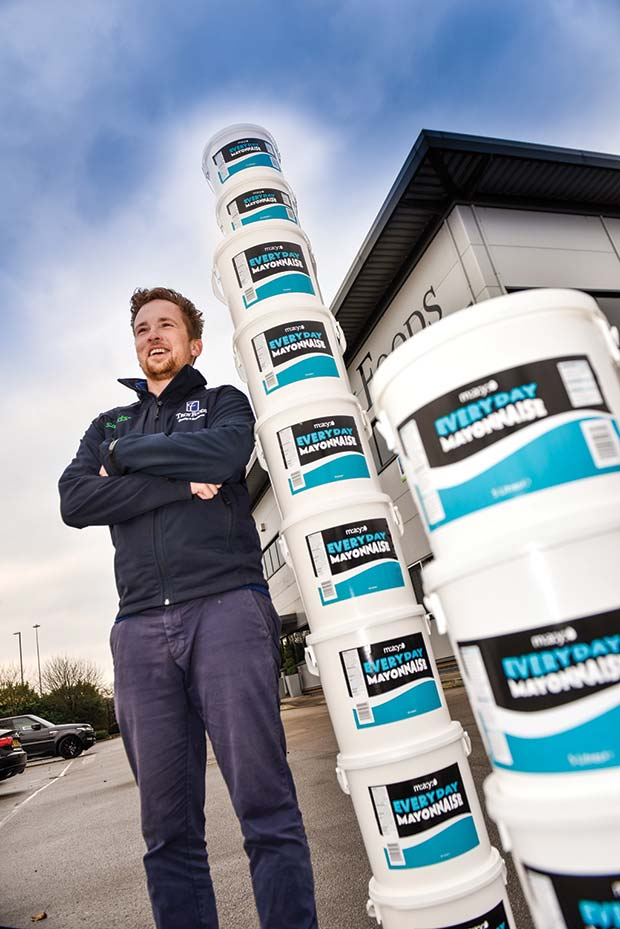 James Kempley, general manager at Troy Foods and Troy Foods own range of mayonnaise.